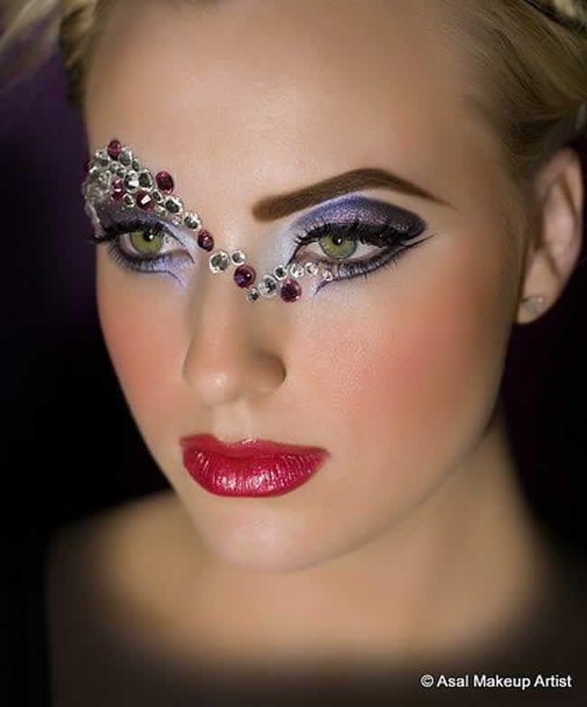 Glitter face makeup tumblr