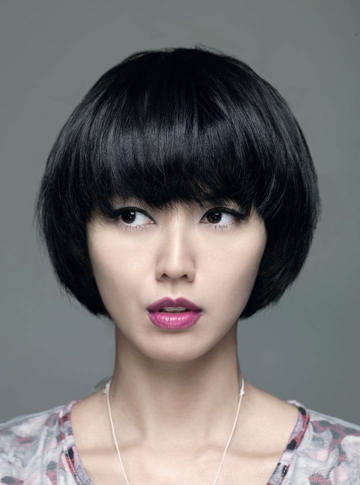 how to style thick asian hair thick bob with bangs cuts bobs 6224
