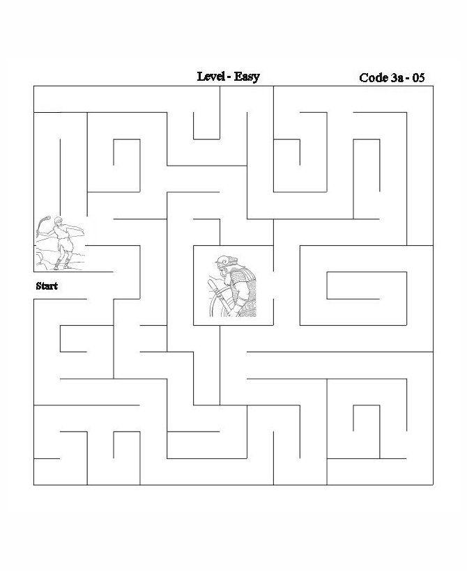 bible lesson activity maze david goliath - David Jonathan Coloring Pages