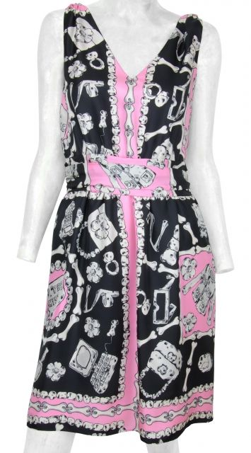 Cheap&Chic Pink Multi Dress by Moschino