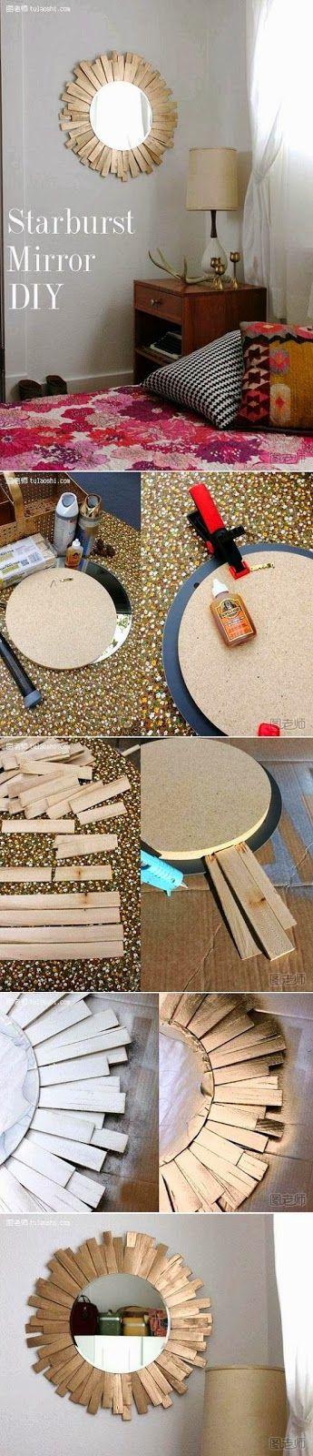 My DIY Projects: Diy Starburst Mirror