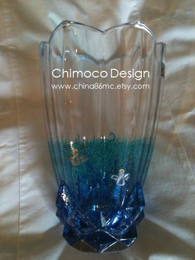 Hand-painted and drawn glass and ceramic pieces by Sydney-based Chimoco Design. www.china86mc.etsy.com #Chimoco Design #gift #request #home decor #vase