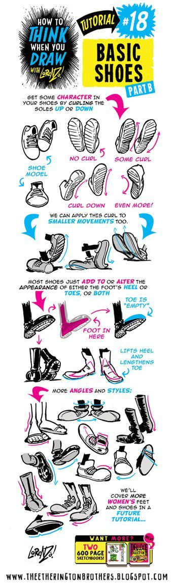 HOW+to+THINK+when+you+draw+FEET+AND+SHOES+tutorial+lorenzo+etherington+4.jpg (383×1276)