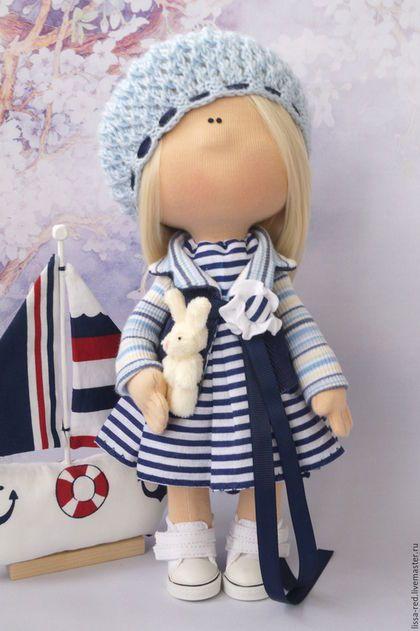 """Человечки ручной работы. Куколка  """"Девочка  Marin"""". Олеся Чепкасова. Ярмарка Мастеров. Текстильная кукла, отпуск, вельвет"""