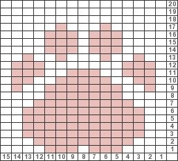 Tricksy Knitter Charts: paw print by Barb H