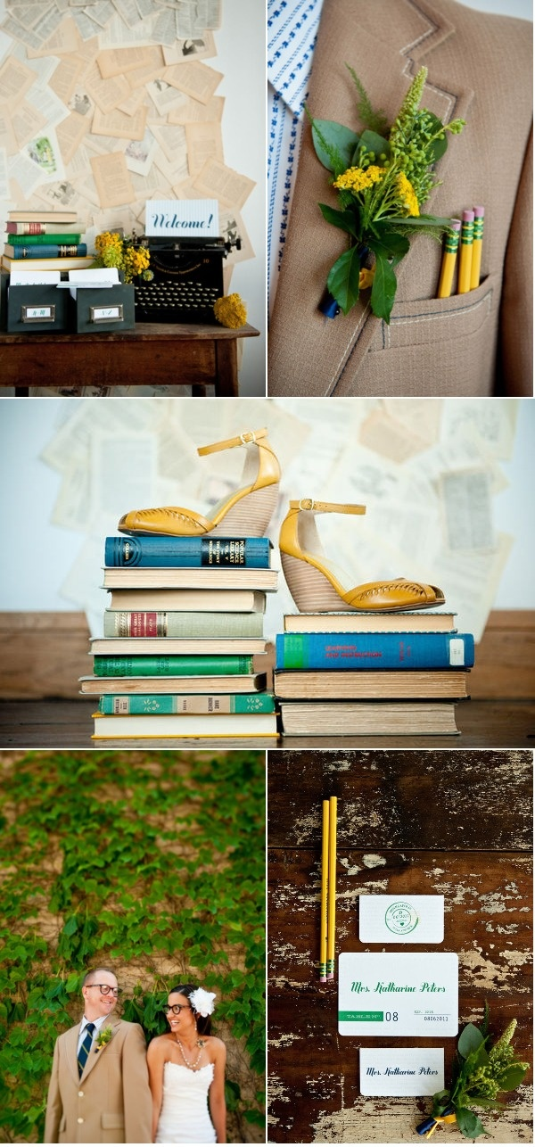 Minneapolis Library Inspiration Shoot by Jeff Loves Jessica | Style Me Pretty