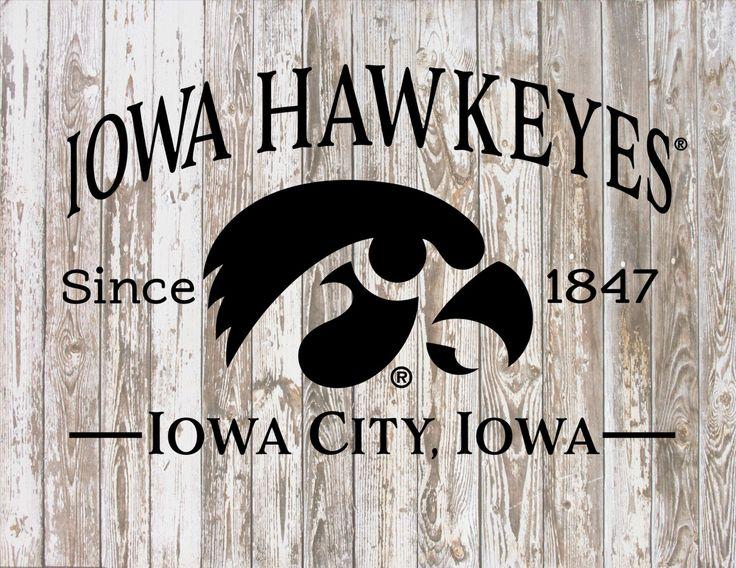 Iowa Hawkeyes Since 1847 Iowa City, Iowa with Tigerhawk Print by HeartlandSigns on Etsy