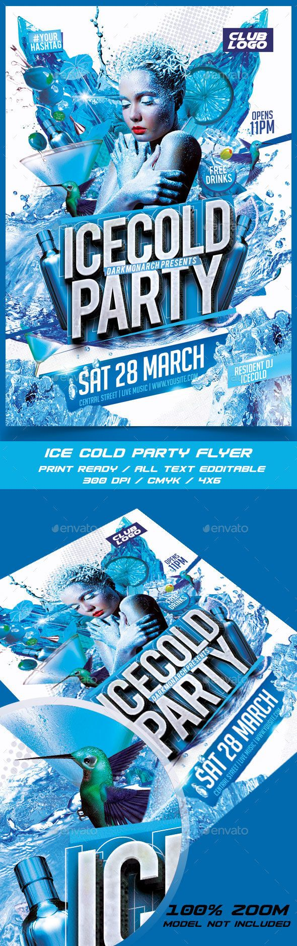 1000 images about design flyer psd flyer templates ice cold party