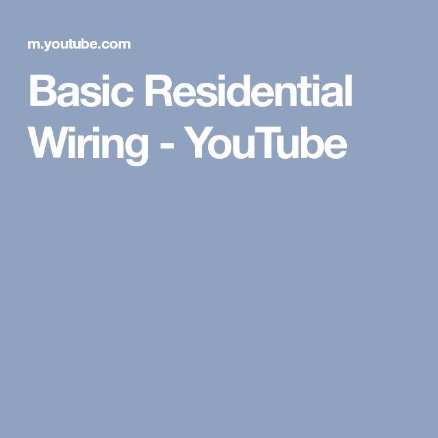 Basic Residential Wiring