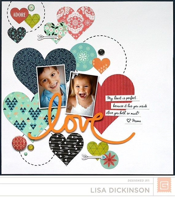 LOVE JADore by Lisa Dickinson #babyscrapbooks