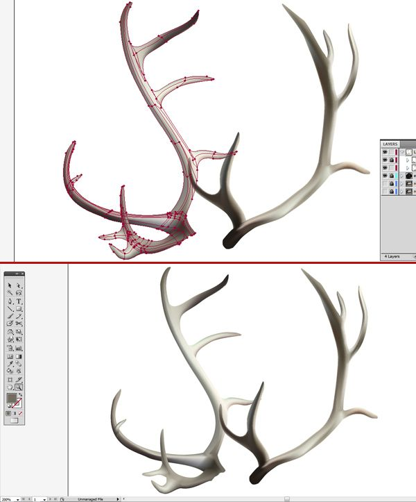 How to Create a Realistic Reindeer with Gradient Mesh in Adobe Illustrator | Vectortuts+