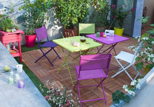 40 best Jardins images on Pinterest Decks, Small gardens and Balconies - ciment colore pour terrasse