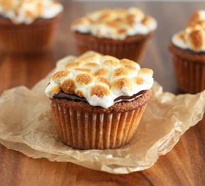 S'mores Cupcakes: