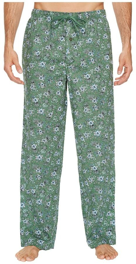 Tommy Bahama Printed Island Washed Cotton Woven Pants Men's Pajama