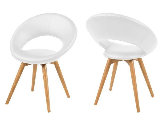 Krzesło Plump V białe Actona