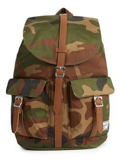 HERSCHEL Kkaki and Brown Camo Backpack