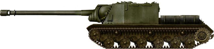 ISU High Power Gun Projects - Prototype Object 2 47/ISU-152-2