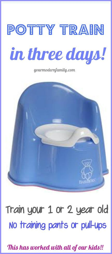 Potty training in 3 days!    This Mom trained each of her kids this way & it worked every time.
