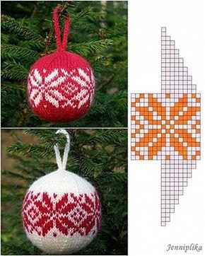 Helena pesa: Esimene jõulukuuli muster...The first Christmas ball pattern