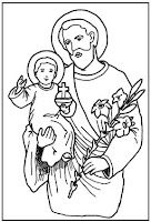 Collection of links for St. Joseph fun (coloring, games, lapbooks, food) via Catholic Icing