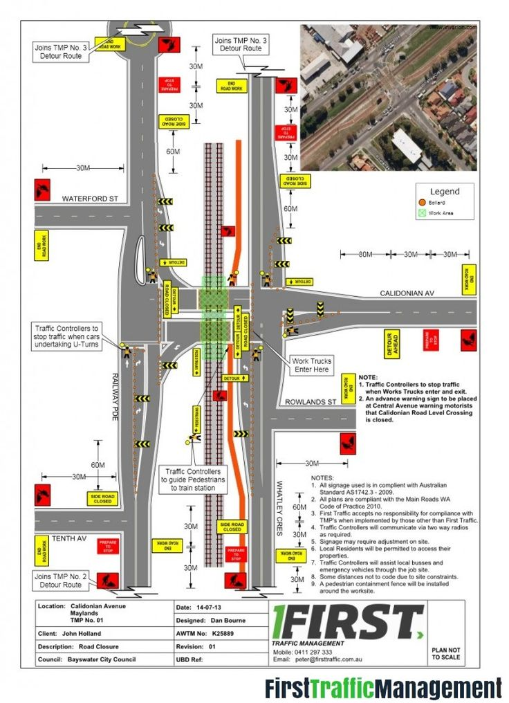 A Traffic Control Plans are diagrams that illustrates the arrangement of signage and devices used to manage traffic at your Workplace. First Traffic Management offer a flexible delivery of Traffic Control Plans around Melbourne. #TrafficControlPlans