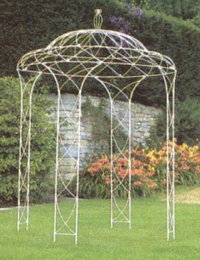 pergola en fer forgé - tonnelle en fer forgé - gloriette en fer forgé - abris jardin en fer forgé