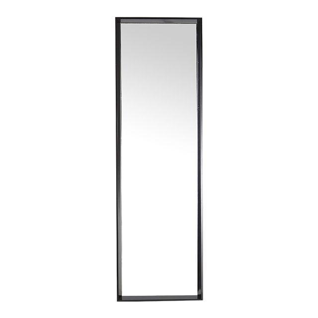 Miroir moderne bois noir 45 x 145 cm - CASTORAMA
