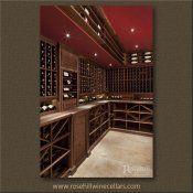 (17) GI-05-Rosehill - Walnut Wine Cellar with Beeswax Finish