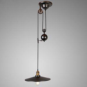 LINA-Américano-européen contemporain salon salle à manger chambre à coucher Art de fer de tendu vers le bas de la lampe à suspension poulie…