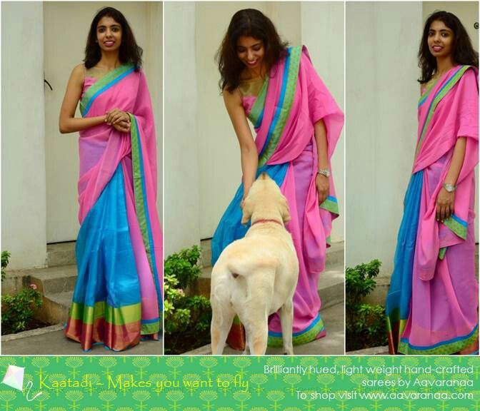 Love to spend time outdoors in a saree?? Then the Kaatadi collection is the best. . Light chiffon and kota fusion sarees with an even lighter border.