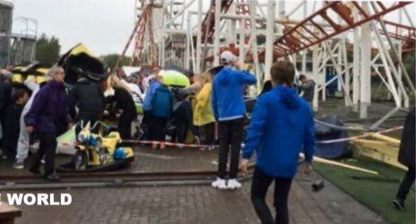 [VÍDEOS] Se descarrila vagón de montaña rusa en Escocia | Cae...