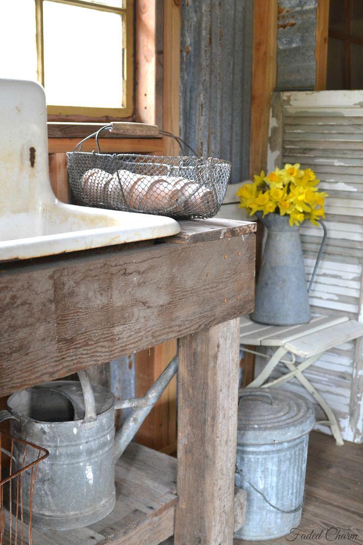 Potting Bench Sink Woodworking Pinterest Bench