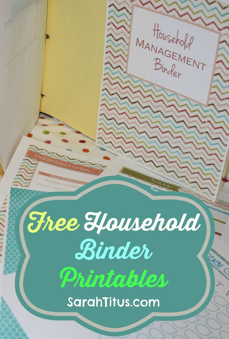 Free Printables: Household Binder If I can actually fill these out and keep them up to date - this would RULE!