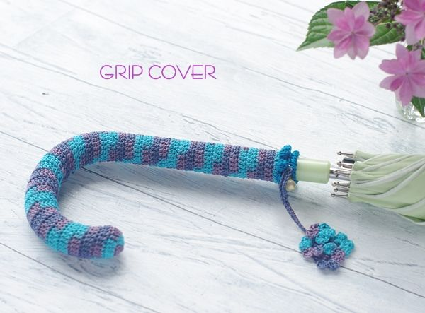 Umbrella Handle Crochet Cover