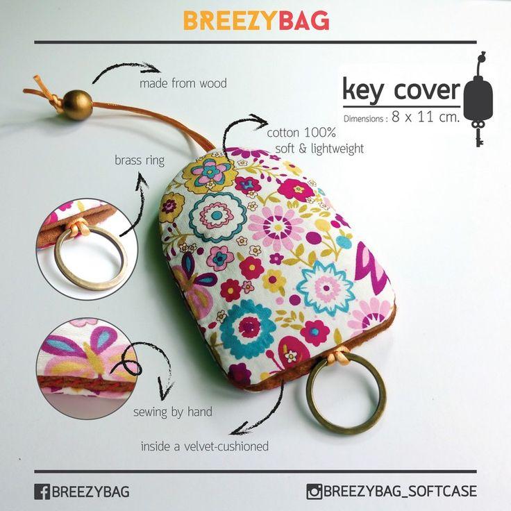 100% Handmade Cotton Key Cover Hand Sewn คีย์โคฟเวอร์ งานแฮนด์เมดจากผ้าคอตตอน   BREEZYBAG?