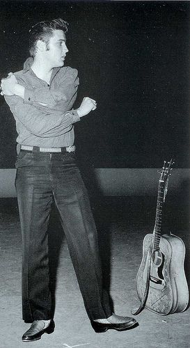 A Young Rising Star - Elvis at the rehearsals for his first appearance on the Ed Sullivan Show, September 9, 1956.