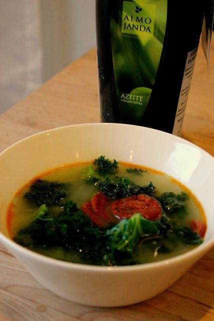 Collard green soup
