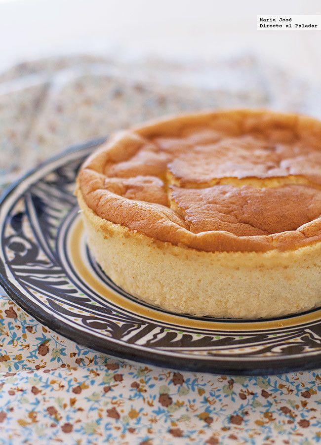 Receta de cheesecake o tarta de queso japonesa. Fotografías con el paso a paso del proceso de elaboración. Sugerencia de presentación. Consejos de preparació...