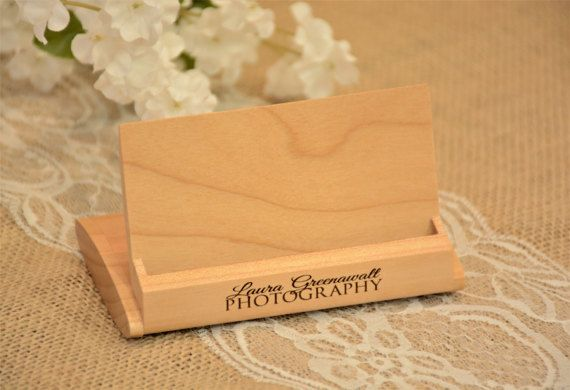 Personalized Business Card Holder Engraved Business by XcaliburInk