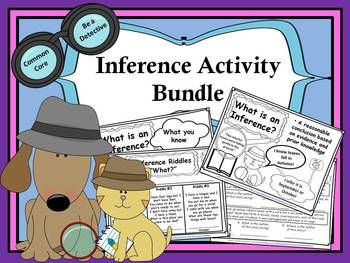 Inference Activity Bundle! (Posters - Riddles - Worksheets