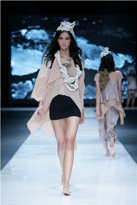Jakarta Fashion Week 2012-2013..Designer Breztel. Fashion designer from Indonesia