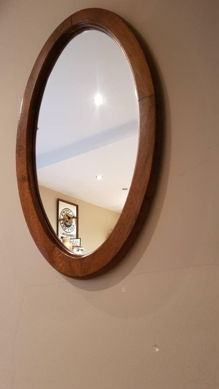 Big Oval Vintage Mirror Nice Wooden Frame Wall Hanging Mirror Nice Home Decor Interior Design Vintage Mirror Hanging Wall Mirror Mirror