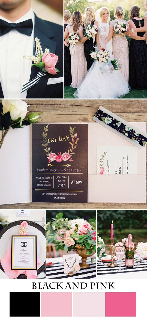 Seven Gorgeous Pink Wedding Colors And Invitations In Metallic