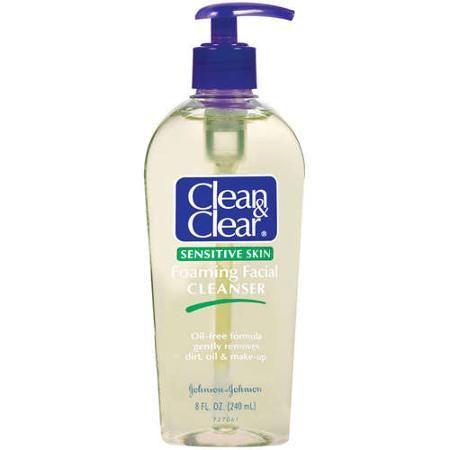 Clean Amp Clear R Foaming Facial Cleanser Sensitive Skin