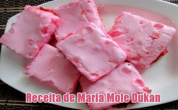 Maria Mole de claras com sabor de morango - Dukan e FIT #receitas #dukan #fit #receitaslight #fitness #dieta