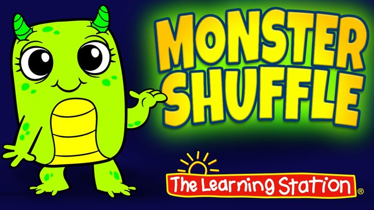 "Join our adorable animated monsters for this popular ""Monster Shuffle"" Halloween dance song that your children will LOVE! This song is ideal for morning meeting, brain breaks and group activities. #Halloween"