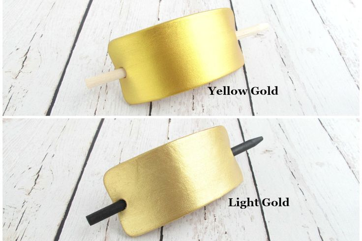 GOLD Hair Clip, Trendy Gold Accessories, Gold Leather Hair Clips, Gold Leather Hair Accessories, Gold Hair Barrette, Women's Gold Hair Piece - pinned by pin4etsy.com