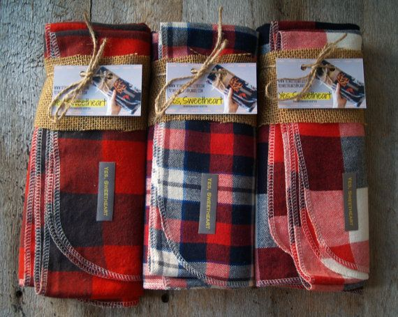 Extra Large Plaid Flannel Receiving Blankets by yeSweetheart