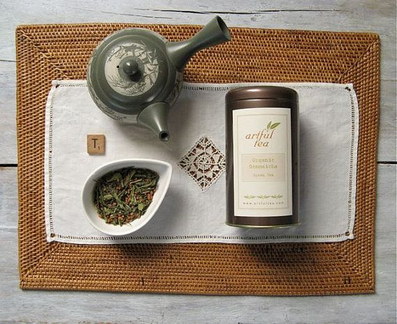 Organic Genmaicha Green Tea | Loose Leaf Blend | Japanese Bancha w/ Roasted Rice | by ArtfulTea
