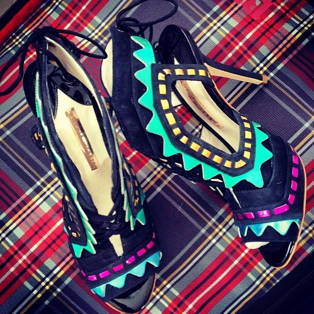 I discovered this Sophia Webster Riko Aztec Pumps | Spotted on @zannarassi on Keep. View it now.